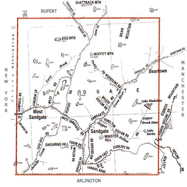 Salem New York Map.Town Of Sandgate Vermont Map And Directions